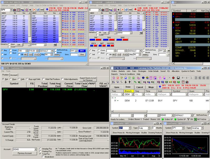 Торговая платформа ROX интерфейс