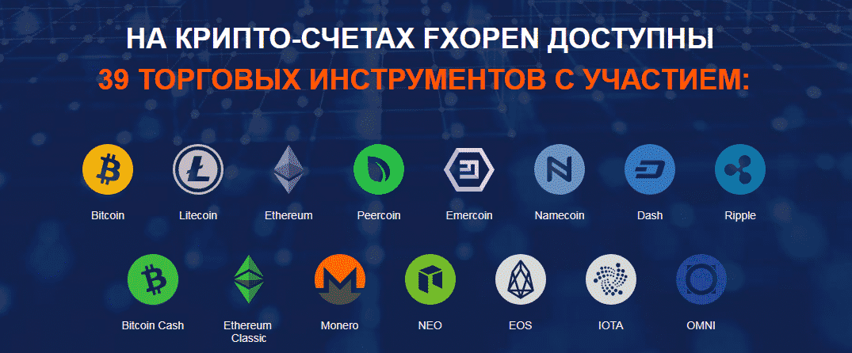 Инструменты на криптосчетах брокера